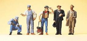 Preiser US Track Workers, Conductor & Hobos Model Railroad Figures O Scale #65342