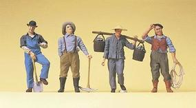 Preiser US Railway Workers Steam Era Model Railroad Figures O Scale #65343