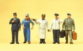 Preiser US Railway Personnel Model Railroad Figures O Scale #65355