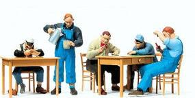 Preiser US Railroad Personnel on Break Model Railroad Figures O Scale #65357