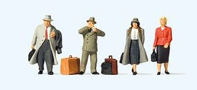 Preiser Passengers at Train Station Model Railroad Figures O Scale #65373