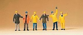 Preiser Workers w/Protective Clothing Model Railroad Figure Z Scale #88537