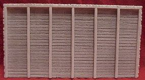 Pre-Size Timber Retaining Wall (6-1/4 x 3-1/2) HO Scale Model Railroad Miscellaneous Scenery #110