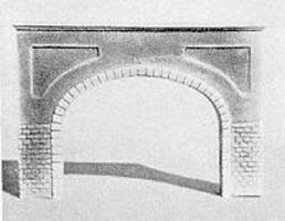 Pre-Size Double Cut Stone Tunnel Portal N Scale Model Railroad Tunnel #206