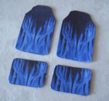 Plastic-Dreams 1/25 Blue Flame Car Mat Set