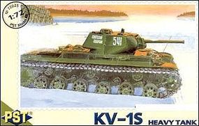 PST KV1S Soviet Heavy Tank Plastic Model Tank Kit 1/72 Scale #72025