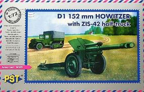 PST ZIS42 w/D1 152mm Howitzer Mod 1943 Plastic Model Artillery Kit 1/72 Scale #72031