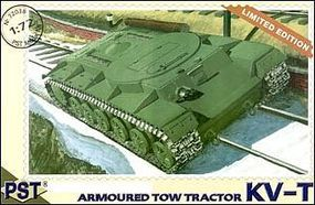 PST KV-T Soviet Armored Tow Tractor Plastic Model Tank Kit 1/72 Scale #72038
