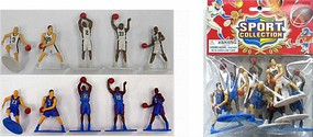 Playsets Basketball Action Figure Playset (10 Total. 5 White, 5 Blue Figures 2.5) (Bagged)