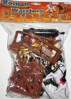 Playsets 1/32 Roman Warriors & Armor Figure Playset (8 w/2 Horses, Cannon, Catapult & Acc) (Bagged)