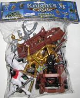 Playsets 1/32 Knights & Armor Figure Playset (6 w/Weapons, 2 Horses, Cannon, Catapult & Acc) (Bagged)