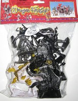 Playsets 1/32 Dragons & Knights Figure Playset (12 w/Weapons, Shields & 2 Winged Horses) (Bagged)