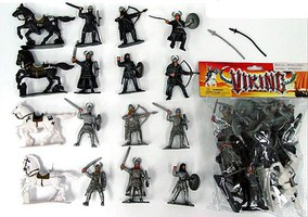Playsets 1/32 Vikings Figure Playset (12 w/Weapons, Bow/Arrows & 4 Horses) (Bagged)