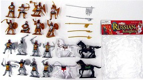 Playsets 1/32 Russian Knights Figure Playset (16 w/Weapons & 4 Horses) (Bagged)