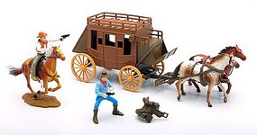 Playsets 1/32 Big Western Stagecoach Playset (Window-Boxed)