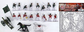 Playsets 1/32 Russian 1800s Infantry Figure Playset (16 w/Weapons, 2 Horses & Cannon) (Bagged)