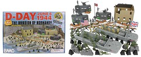 Playsets 54mm D-Day Invasion of Normandy Diorama Playset (114pcs) (Boxed) (BMC Toys)