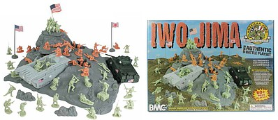 Playsets 54mm Iwo Jima Diorama Playset (60+pcs) (Boxed) (BMC Toys)