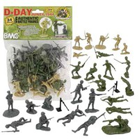 Playsets 54mm D-Day Invasion of Normandy Figure Playset (34pcs) (Bagged) (BMC Toys)