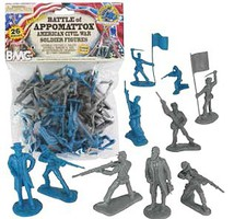 Playsets 54mm Civil War Battle of Appomattox Figure Playset (26pcs) (Bagged) (BMC Toys)