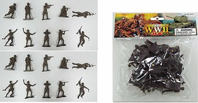 Playsets 1/32 WWII Russian Infantry 1941-45 Figures (20) (Bagged) (New Tool)