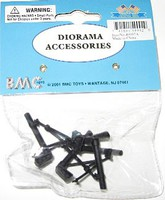 Playsets 54mm Mortars (4pcs) (BMC Toys)