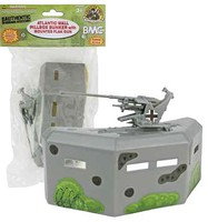 Playsets 54mm Bunker w/Gun (Grey) (BMC Toys)