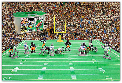 Playsets Football Guys Action Playset Black/Grey (27 2'' Figures, Acc & Carry Case) (Kaskey)