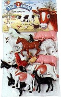 Playsets 1/32 Farm Animals Playset (14pcs) (Bagged)