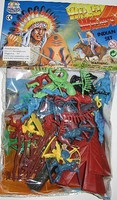 Playsets 1/32 Wild West Indians Playset (Bagged)