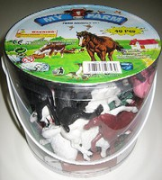Playsets 1/32 Farm Animals Playset (40pcs/Tub) (6 Tubs/Case)