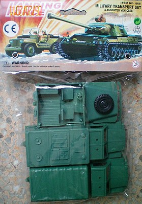 Playsets 1/32 Landing Force Military Transport Vehicles (3) (Bagged)