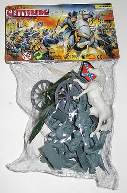 Playsets 54mm Gettysburg Confederate Figure Playset (12pcs) (Bagged) (Americana)