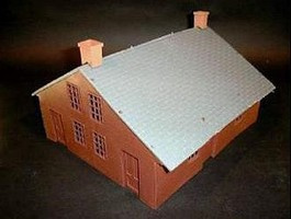 Playsets 54mm American Civil War House (Brown) (Bagged) (Americana)