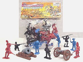 Playsets 54mm American Revolution Figure Playset (50pcs) (Bagged) (Americana)