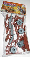 Playsets 54mm American Revolution Cannon & Mortar Set (8pcs) (Bagged) (Americana)