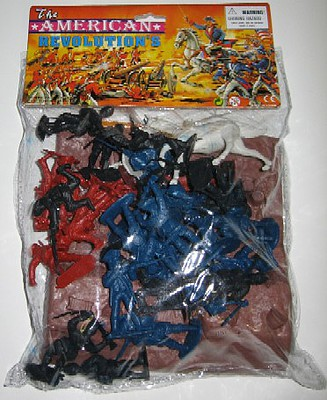Playsets 54mm American Revolution Embankment & Figures Playset (36pcs) (Bagged) (Americana)