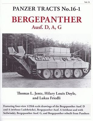 Panzer Tracts Panzer Tracts No.16-1 Bergepanther Ausf D/A/G -- Military History Book -- #161