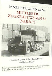 Panzer Tracts Panzer Tracts No.22-4 mZgkw 8t (SdKfz 7) -- Military History Book -- #224
