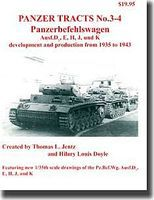 Panzer-Tracts Panzer Tracts No.3-4 PzBefwg Ausf D/E/H/J/K Military History Book #34