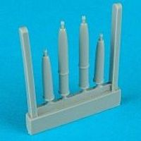 Quickboost Spitfire F Mk 22 Cannon Barrels (4) Plastic Model Aircraft Accessory 1/48 Scale #48064