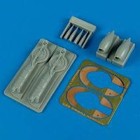 Quickboost P38J/L Air Intakes & B33 Supercharger Plastic Model Aircraft Accessory 1/48 #48463