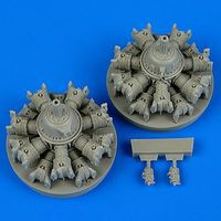 Quickboost A20 Havoc Engine for AMT & ITA Plastic Model Aircraft Accessory 1/48 Scale #48547