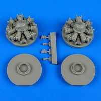 Quickboost B25 Engines for Italeri & ATE Plastic Model Aircraft Accessory 1/48 Scale #48554