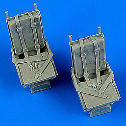 Quickboost B25 Mitchell Seats w/Safety Belts -- Plastic Model Aircraft Accessory -- 1/48 Scale -- #48681