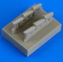 Quickboost Hurricane Mk I Late Exhaust for Airfix Plastic Model Aircraft Accessory 1/72 Scale #72456