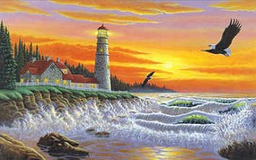 Royal-Brush Guiding Light (Lighthouse) Paint by Number Age 8+ (11.25x15.375)
