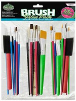 Royal-Brush Assorted Taklon Brushes 12pc Value Pack