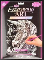 Royal-Brush Holographic Foil Engraving Unicorn Scratch Art Metal Art Kit #holo11