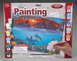 Royal-Brush PBN Ocean Life 15x11-1/4 Paint By Number Kit #pal20